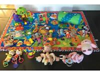 Baby Toy Bundle Including Mat
