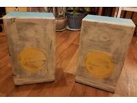 Pair of hand-painted Bush SP 7065 loudspeakers