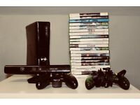Xbox 360 with Kinect - 21 games - controller charger - Great Condition