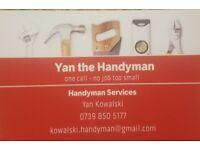 Handyman - Yan the handyman. Woodford Ilford, barking, wanstead, east and northeast London