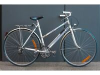 Immaculate Vintage Lightweight Peugeot Ladies Town Bike with Pannier
