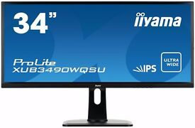 "Iiyama ProLite XUB3490WQSU-B1 34"" 3440x1440 AH-IPS Widescreen LED Monitor - Black"