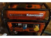 Kawasaki GA3200AS Petrol Electric Generator. Key elec starter. 240v 110v UK Shipping