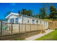 Self Catering Holiday Static Caravan Family Dog friendly on working farm stunning Devon views