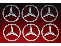 6x Mercedes logo decal