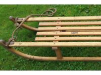 Austrian vintage wooden sledge / sleigh