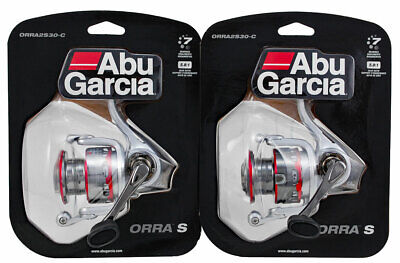 (LOT OF 2) ABU GARCIA ORRA S ORRA2S30-C 5.8:1 SPINNING REEL CLAM PACK #1324547