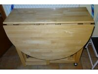 John Lewis Rubberwood Folding Table & 4 Chairs