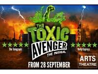 2 x Toxic Avenger Musical Tickets & 2 Course meal @ Jamie's Italian restaurant