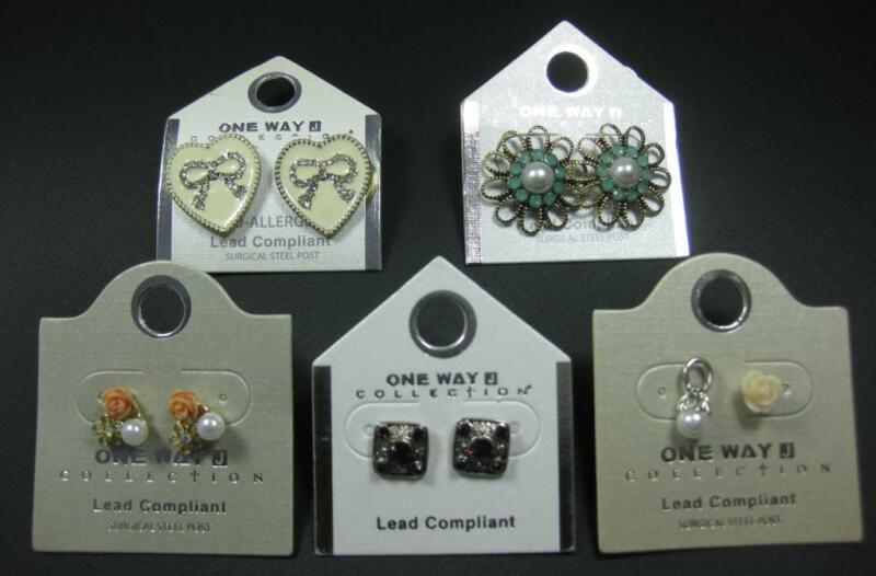 Fashion Earrings Wholesale Lot of 5 Pairs Great For Re-Sale or Gifts!