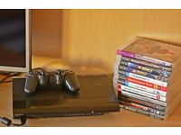 Sony Play Station 3 Super Slim console + 12 games, Mint Condition