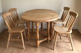 Solid Beech Dining Table & Chairs