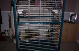 parrot cage used