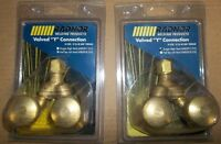 2 - Y-VALVES CONNECTION FOR OXYGEN ACETYLENE TORCHES $60.00 PAIR