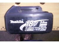 makita 18v 3.0ah battery,faulty