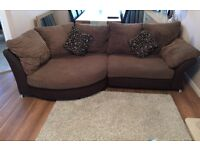 3 seater corner sofa and 2 seater cuddler and footstool for sale