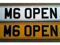 Private plate for a BMW M6 Convertible or an MGF MGTF MG TF