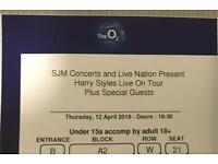 FLOOR BLOCK A2 Harry Styles London O2 Arena Platinum Ticket