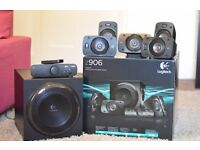 Logitech Z906 5.1 Speakers + wall mount + extra cables