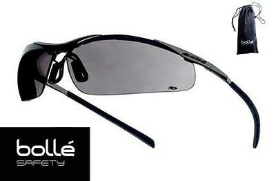 Boll - Bolle Safety Glasses Contour Gray Lens - Metal Frame 40050 - With Pouch
