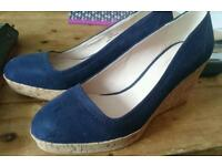 Navy next wedges size 6 new