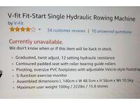 V Fit rowing machine still in box