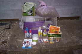 Guinea pig indoor cage with other bits purple