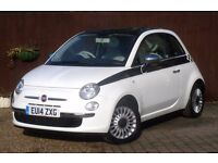 FIAT 500 1.2 LOUNGE 3DR #JUST ONE OWNER FROM NEW #1 YEARS MOT #HPI CLEAR #PAN ROOF #2 KEYS