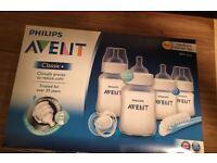 Phillips Avent bottles and brush