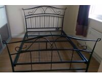 solid double bed wit mattress can deliver