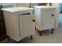 Oak bedside cabinets - pair
