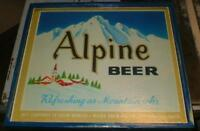 Alpine Brand Beer sign - Maier  Brewery,Los Angeles -1940's