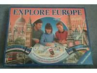 Vintage Explore Europe Board Games
