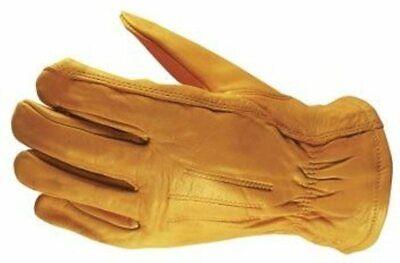 Wells Lamont Premium Cowhide Leather Work Gloves 3 Pair - Medium