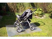 Baby car Julia pushchair with carry cot plus all accessories - hardly used