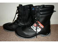 About blu steel toe cap safety work boots with zips and laces new size 43 Great quality boots