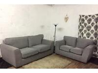 New Grey 3+2 seater sofas**Free delivery**