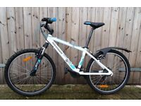 "Junior Rockrider Mountain Bike for sale. BTwin Pr,5.2 finisher 24"" 18 gears"
