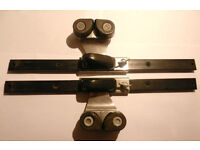 Sliding Camcleats with Fairleads on a 15 inch track