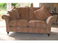 2 Parker Knoll settees and Footstool