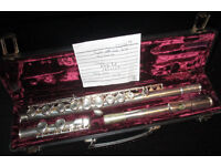 Buffet Crampon Sliver Plated Flute No 861E with 228 Head piece in nice case just fully serviced