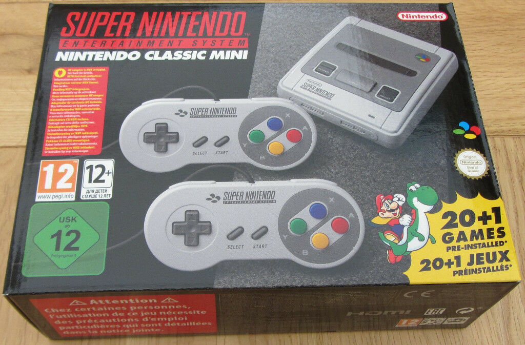Super Nintendo Classic Mini SNES - NEW - Updated with custom mod and now includes 270 SNES games