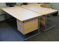 Office desks and chair - good quality in great condition
