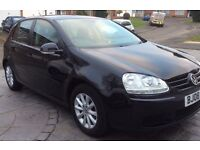 Golf 1.6 Match hatchback. Black. Very Good condition. One lady owner.