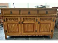 """Vintage """"old charm"""" solid oak sideboard"""
