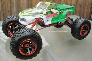 RC Electric Rock Crawler Truck 1/8 Scale 4 Wheel steering, 4WD, Peterborough Peterborough Area image 2