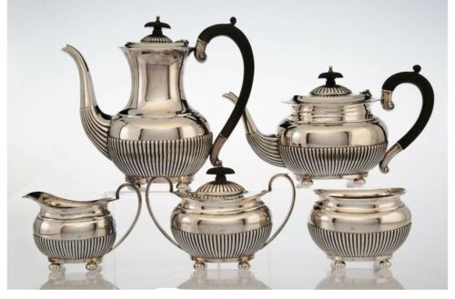 A097 A William Adams Ltd. 5 Piece Silver Tea and Coffee Set, Birmingham.74.37TOZ