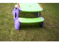 childs pinic table and bench
