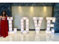 4ft LOVE LETTERS FOR HIRE