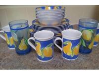 Vintage Cole and Mason Picnic Set (7 dinner plates, 7 side plates, 7 bowls, 4 cups and 2 beakers)
